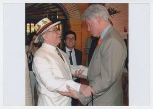 Gabriel Garcia Marquez and Bill Clinton